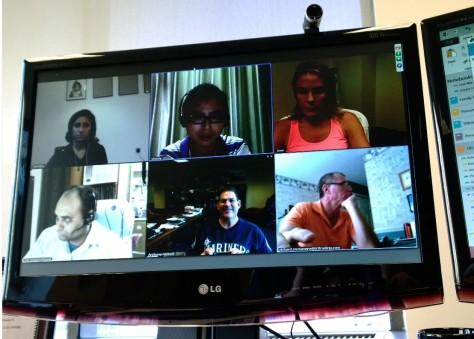 The latest in meeting technology...Conference Calls on MSFT Lync.  Seattle, New Jersey, Dubai, Delhi and Capetown represented here.