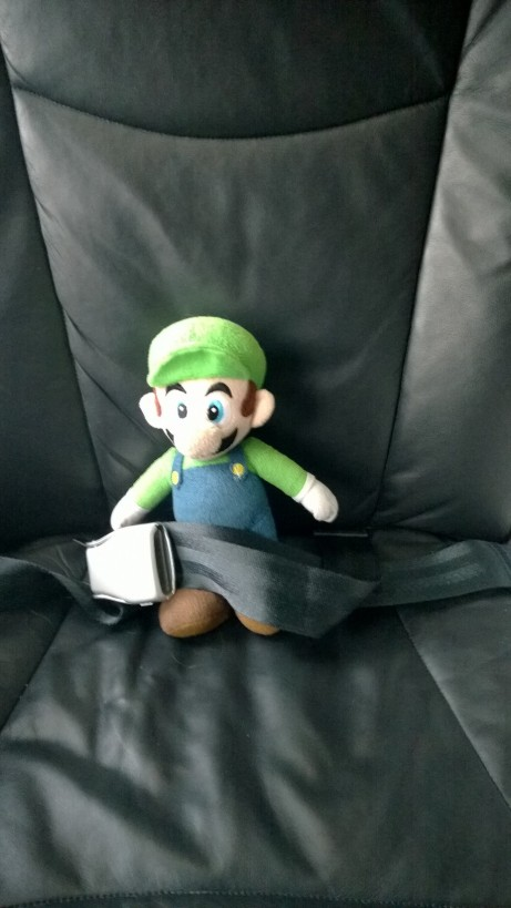 Is any business trip worth your son asking you to take Luigi along so you don't get lonely?