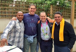 Chester Williams, me, Australian legend David Campese and Mark Ella