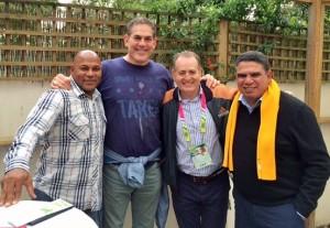 Chester Williams, me, Australian legend David Campese and Mark Ella