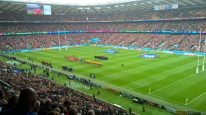 The Anthems. Australia v. Wales 11/10/2015